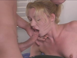 Sexy Blonde Virgin Slut Gets All Her Cherries Popped At Once