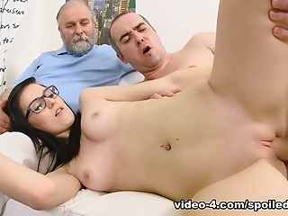 Spoiledvirgins - Two Old Guys Argue If This Cute College Girl In Glasses Is A Virgin But Anyway She Gonna Be Spoiled